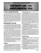 Captain's Log #45 Supplement
