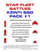 Star Fleet Battles: Kzinti SSD Pack #1