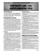 Captain's Log #46 Supplement