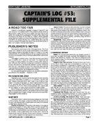 Captain's Log #53 Supplement