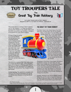 Toy Troopers Tale  The  Great Toy Train Robbery