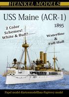1/200 USS Maine (ACR-1) 1895 - Paper Model