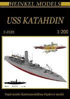 1/200 USS Katahdin Grey Scheme Paper Model