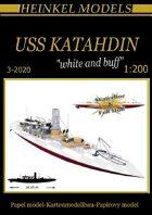 1200 USS Katahdin White & Buff  Scheme Paper Model