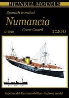 1/200 Spanish ironclad Numancia Waterline Paper Model