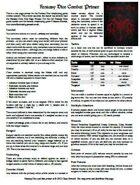 Fantasy Dice One Page Combat Primer