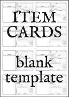 Item Cards (Blank Printable)