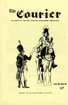 The Courier: Bulletin of the New England Wargamers Association V2 #3 1970
