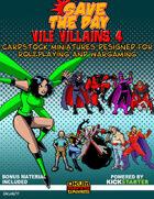 Vile Villains Paper Minis Set Four