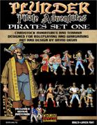 Plunder: Pirate Adventures Paper Miniature Pirates Set One