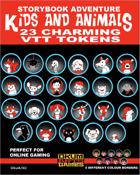 Storybook Adventure: Kids and Animals VTT Tokens