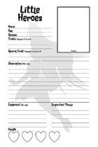 Little Heroes Deluxe: Character Sheet