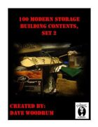 100 Modern Storage Building Contents, Set 2