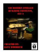 100 Modern Storage Building Contents, Set 3