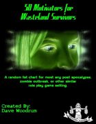 50 Motivators for Wasteland Survivors