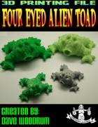 Four Eyed Alien Toad (3D Print: STL)