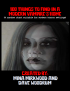100 Things To Find In A Modern Vampire's Home