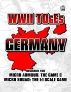 WWII TO&Es - Germany