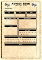 Action Dice Character Sheet