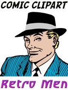Comic Clipart: Retro Men