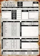 Age of Shadow Character Sheet