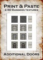 Print & Paste Dungeon textures: Additional Doors