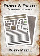 Print & Paste Dungeon textures: Rusty Metal