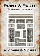 Print & Paste Dungeon textures: Alcoves & Niches