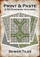 Print & Paste Dungeon textures: Sewer Tiles