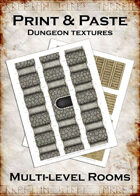 Print & Paste Dungeon Textures: Multi-level Rooms