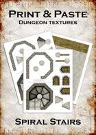 Print & Paste Dungeon Textures: Spiral Stairs