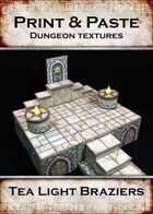 Print & Paste Dungeon Textures: Tealight Braziers