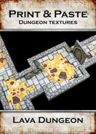 Print & Paste Dungeon textures: Lava Tiles