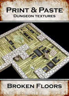 Print & Paste Dungeon textures: Broken Floors