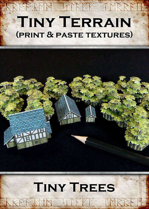 Print & Paste Textures: Tiny Trees