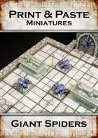 Print & Paste Miniatures: Giant Spiders