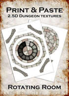 Print & Paste Dungeon textures: Rotating Room