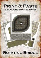 Print & Paste Dungeon textures: Rotating Bridge