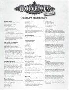 Unhallowed Metropolis, Revised Combat Reference Sheet