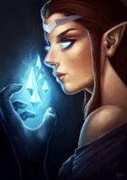 Zelart 044: Elven Crystal Mage (Scholarship Donation)
