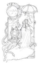 Zelart 050: Steampunk Lady & Octopus