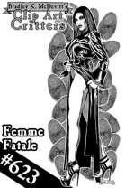Clipart Critters 623- Femme Fatale