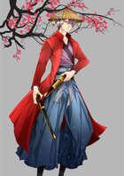 Gunslinger Samurai Stock Art