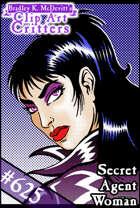 Clipart Critters 625-Secret Agent Woman