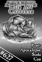 Clipart Critters 627-Post Apocalypse Soda Can