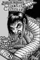 Clipart Critters 628-Modern Snake Mutant