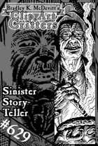 Clipart Critters 629-Sinister Storyteller