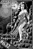 Clipart Critters 632- Gothic Vampiress