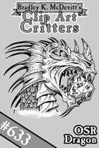 Clipart Critters 633 - OSR Dragon