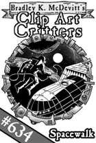 Clipart Critters 634- Spacewalk